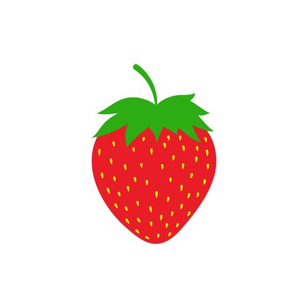 Red Strawberry icon vector. Modern simple flat icon. Isolated. 일러스트