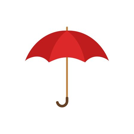 Umbrella icon, flat style symbol, vector illustration. Isolated. Ilustrace