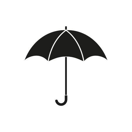 Parasol symbol na białym tle. Ilustracja wektorowa.