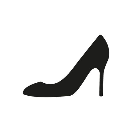 Woman shoes vector icon. Flat design. Isolated.