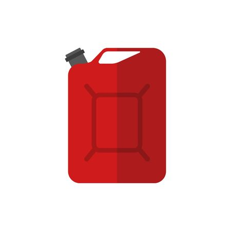 Fuel container or gas can. vector illustration.