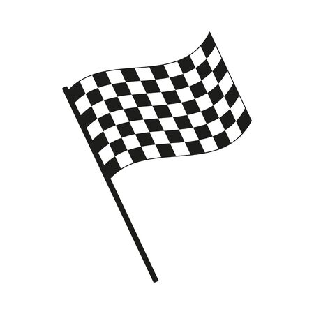 Vector illustration of racing flag icon. Islated.