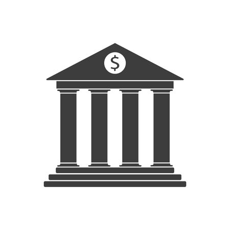 Vector illustration of simple bank icon. Flat.