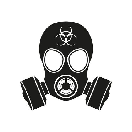 Vector illustration of gas mask simple icon. Isolated.
