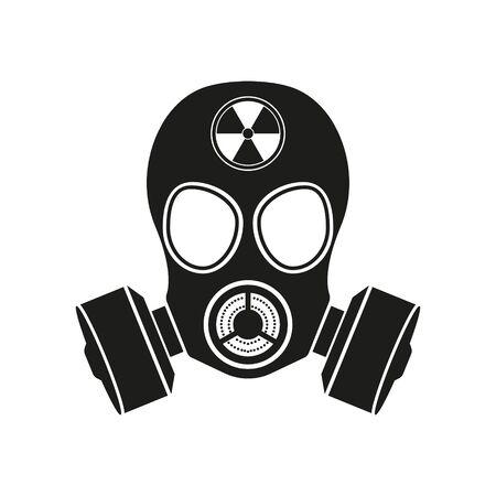Gas mask Icon Isolated on White Background