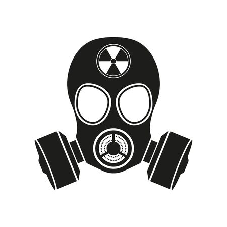 Gas mask Icon Isolated on White Background