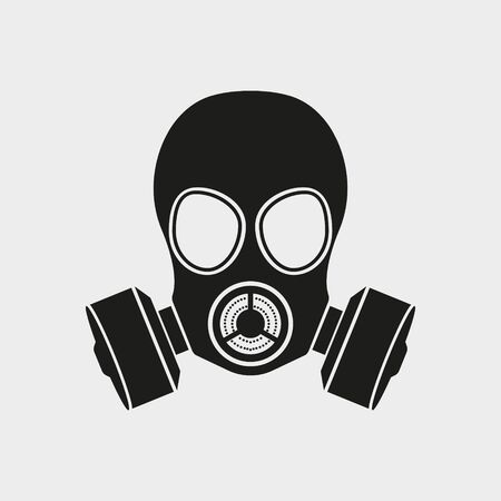 Gas mask Icon Isolated on white background. Vector.