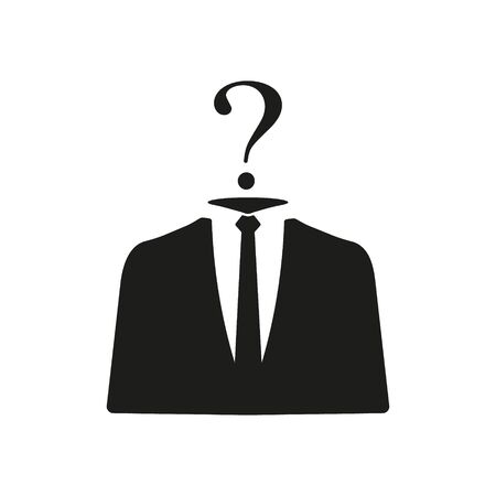 Vector illustration of unknown person icon. Isolated.