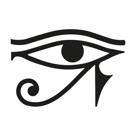 Vector illustration of sun Eye of Horus. Isolated. Vektorové ilustrace