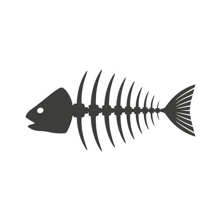 Vektorillustration des Fischskelettsymbols. Isoliert.