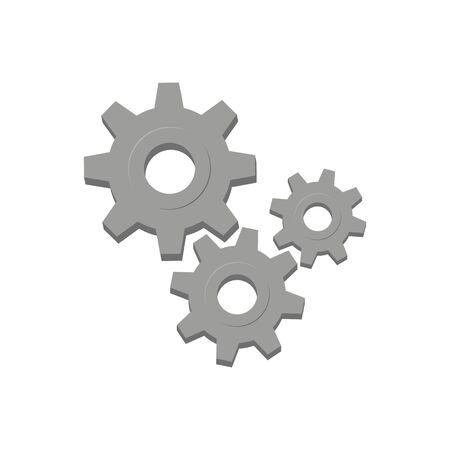 Diseño de estilo plano de vector de icono de engranaje.