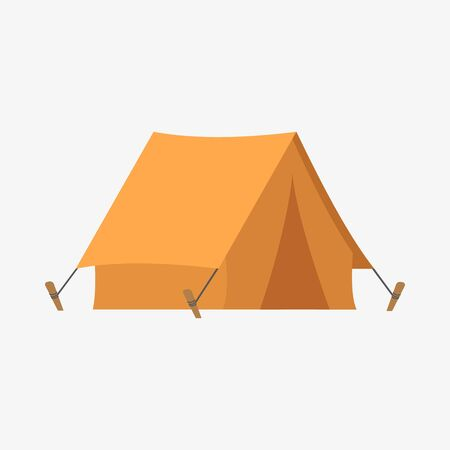Vector illstration of simple tent icon. Flat design. Isolated.
