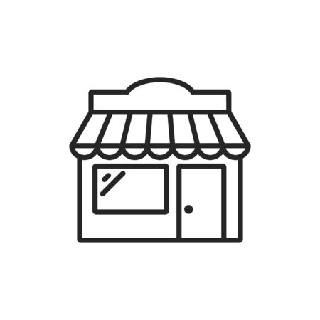 Vector illstration of store icon. Line style. Isolated.