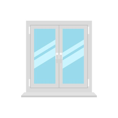 Vector illstration of window on white background. Isolated. Illustration