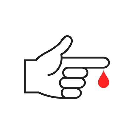 Vector illstration of blood test icon on white background. Isolated.