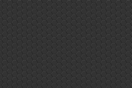 Dark horizontal background with hexagons. Vector.