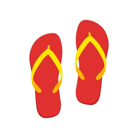 Colored flipflops icon. Slippers icon. Vector illustration.