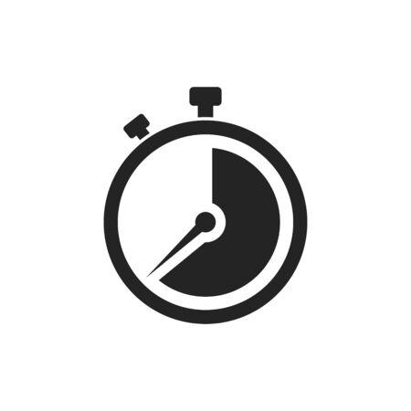 Vector illstration of stopwatch icon. Flat design. Isolated. Ilustracja