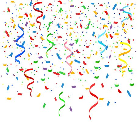 Vector illstration of confetti on white background. Isolated.