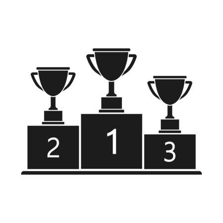 Vector illstration of podium icon. Flat design.
