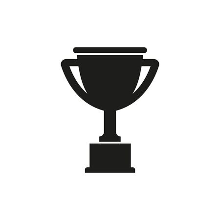 Vector illstration of winner cup icon. Flat design. Isolated. Ilustrace