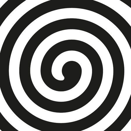 Ilustración de vector de espiral negra sobre fondo blanco. Aislado.