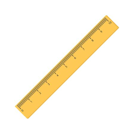 Vector illstration of ruler icon. Flat design. Isolated.