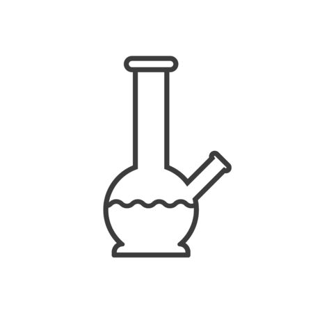 Vector illstration of bong icon on white background. Isolated.