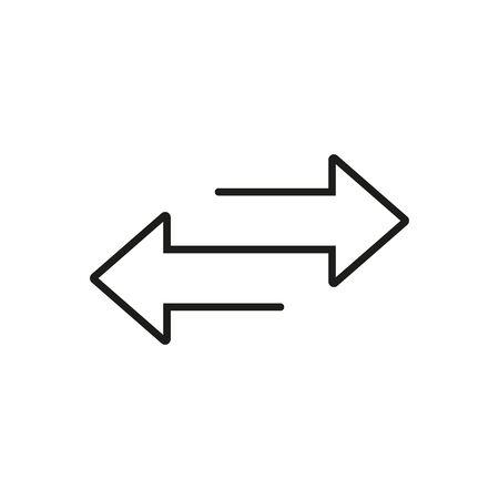 Twee pijlen. Overdracht teken. Lijn ontwerp. Vector illustratie.