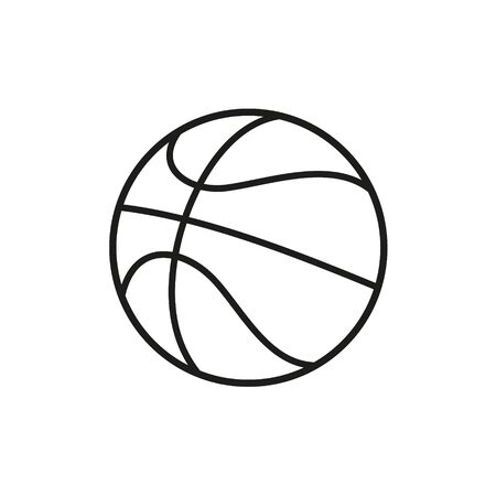 Vector illstration of basketball on white background. Isolated.