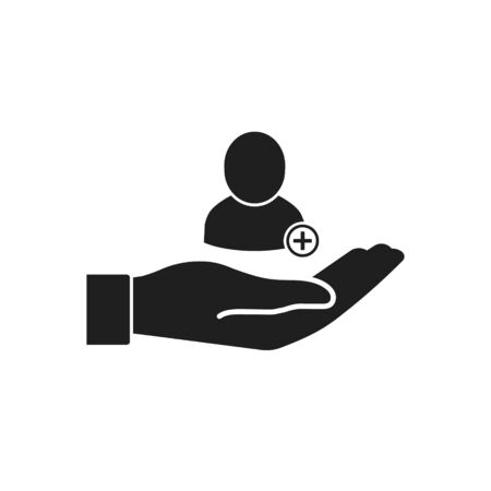 Vector illstration of person care icon. Flat design. Isolated.