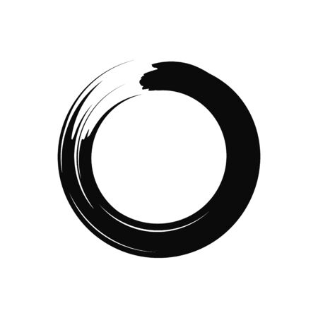 Vector illstration of zen sign on white background. Isolated.