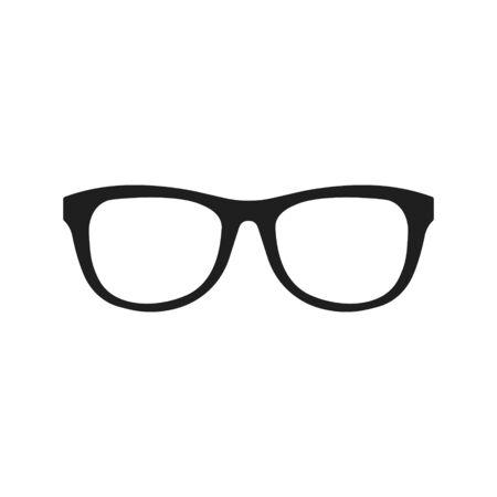 Illustration vectorielle de l'icône de lunettes. Conception plate. Isolé.