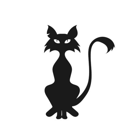 Vector illustration of cat on white background. Isolated. 일러스트