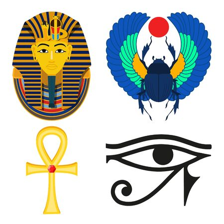 Vector illstration of ancient egypt on white background. Isolated.