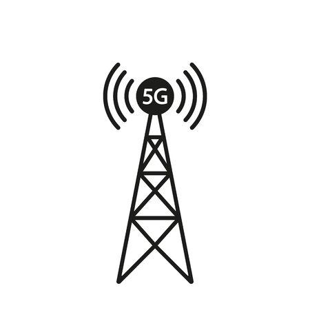 5G tower icon design. Vector illustration.
