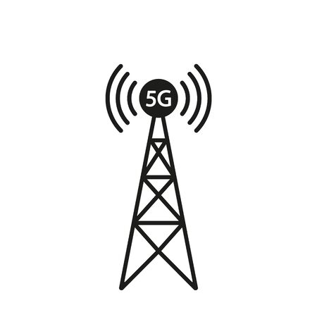 5G tower icon design. Vector illustration.