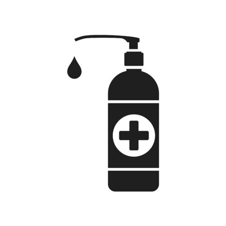 Liquid antiseptic icon. Vector illustration on withe background. Isolated.  イラスト・ベクター素材