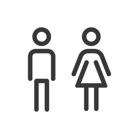 Male, female icon. Vector illustration on withe background.  イラスト・ベクター素材
