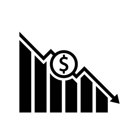 Economy fall icon design. Vector illustration, flat design.  イラスト・ベクター素材