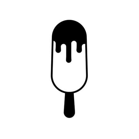 Ice cream on stick icon. Vector illustration in flat style. Isolated.