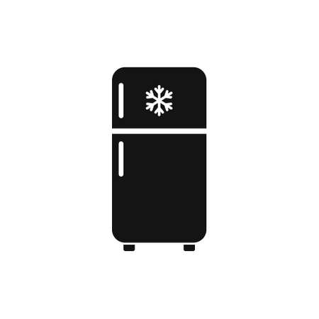 Fridge with snowflake icon. Vector illustration on withe background. Isolated.