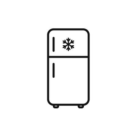 Fridge in line style icon. Vector illustration on withe background. Isolated. Illustration