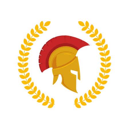 Vector illustration of spartan helmet.  イラスト・ベクター素材