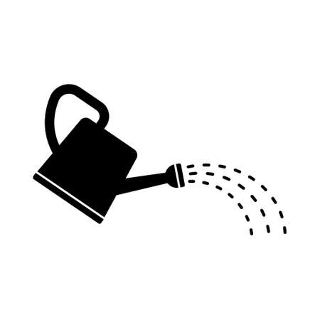 Watering can icon. Vector illustration on withe background. Flat design. 向量圖像
