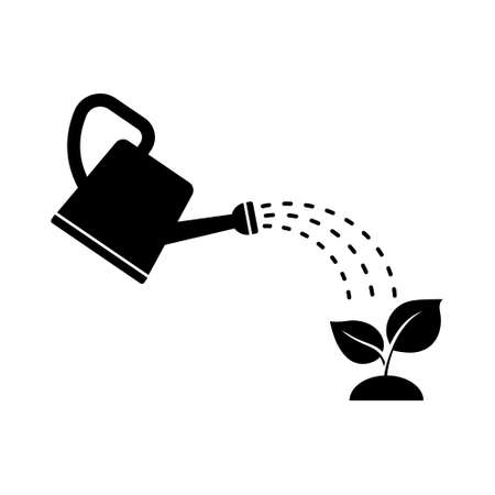 Plant watering icon. Vector illustration on withe background. Isolated.