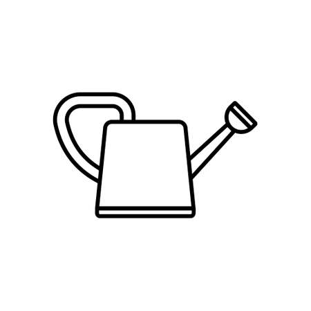 Waterer icon in outline style. Vector illustration. Isolated.