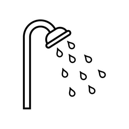 Shower icon design. Vector illustration on white background. Isolated.