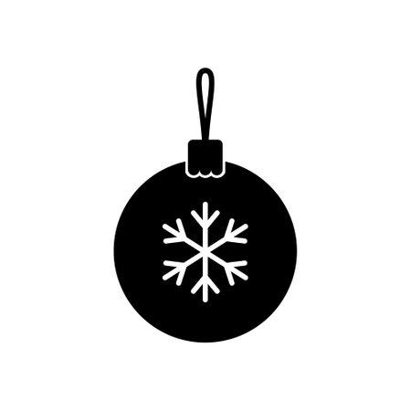 Blue christmas balls icon. Flat style. Vector illustration.