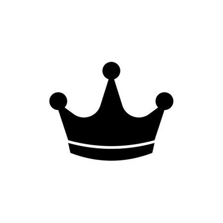 Black crown icon. Flat style. Vector illustration.